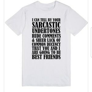 Saecastic Friends Funny Tshirt With Sayings